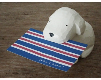 T-lab polepole Card Holder Toy poodle White