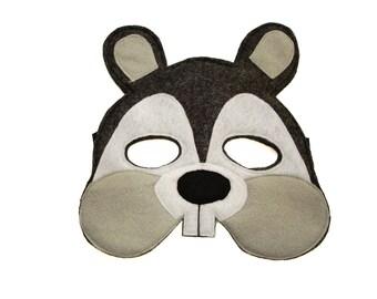 Children's Woodland Animal SQUIRREL Felt Mask