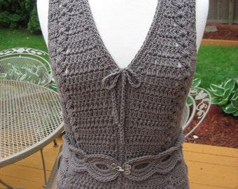 Meadows Vest with Matching Belt Crochet Pattern Pdf