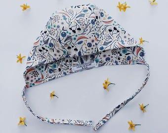 Cotton patterned bonnets