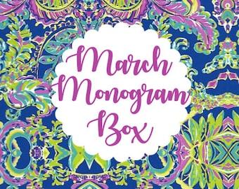 Monthly Monogram Box - March