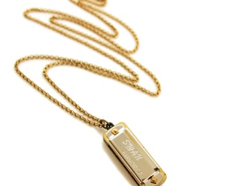 Musical Mini Harmonica Necklace - Real Working Harmonica Instrument Necklace -Gift for Musician