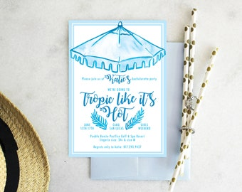 PRINTABLE Bachelorette Party Invitation | Tropic Like It's Hot