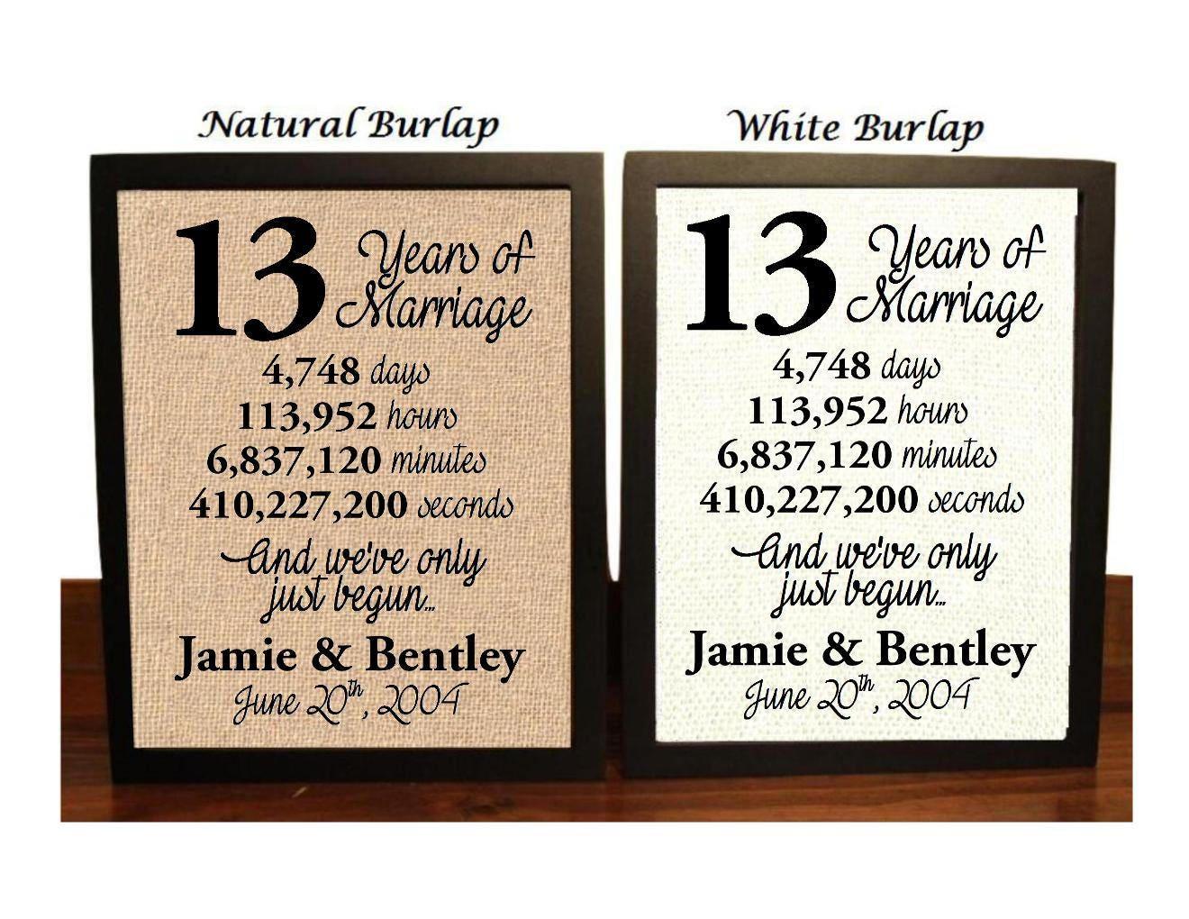 13 Wedding Anniversary Gifts: 13th Wedding Anniversary 13 Year Wedding Anniversary 13th