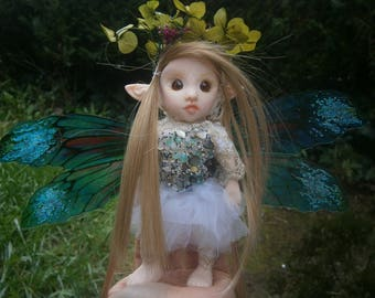 elf fairy princess fairy figure  woodland fairy ooak forest fairy