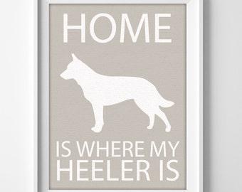 """8x10"""" Heeler Art, Australian Cattle Dog, Cattle Dog Art, Blue Heeler, Red Heeler, Heeler Gift, Cattle Dog Gift, Cattle Dog Art, Heeler Print"""