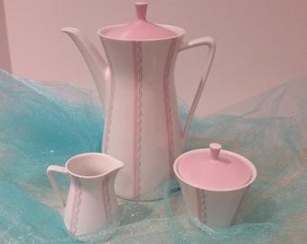 Antique Bavarian pink tea set