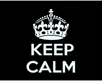 Keep Calm and Carry On Decal - Keep Calm Car Window Decal -  Keep Calm Window Sticker