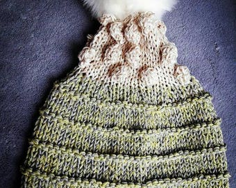 Bicolor Hand Knitted hat