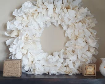 Farmhouse muslin wreath *made to order*