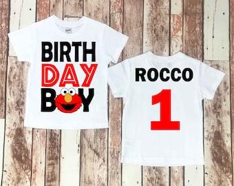 Elmo Birthday Shirt, Elmo Birthday, Elmo, Baby Boy, Baby Boy Clothes, First Birthday, 1st Birthday, Sesame Street Birthday, Sesame Street