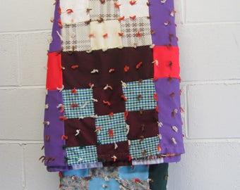 Vintage Patchwork Quilt Blanket