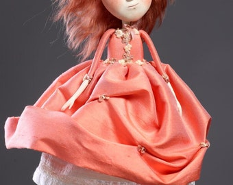 The May wind  (art doll from paperclay, one of a kind)