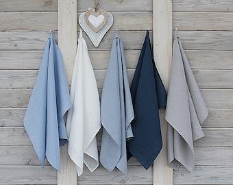 Linen kitchen towels / Linen tea towels / Set of 5