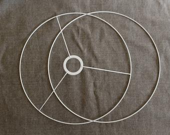 Set of circles 50cm for hanging or Lampshade circle head with ring + naked circle