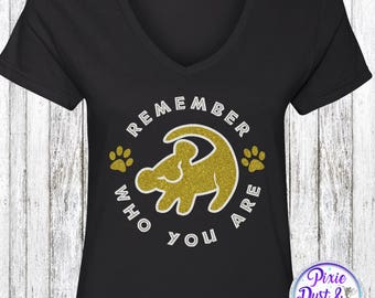 Remember Who You Are Simba Inspired Lion King Sparkle Shirt