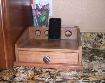 Cell Phone Charging Station- Cherry