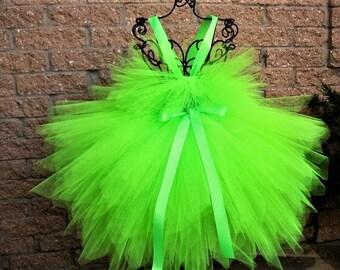 PIXIE FAIRY GREEN, Tutu Dress, Lime Green Dress, Fairy Costume, Pageant Girl Dress, Pixie Cut Tutu, Girl's Green Dress, Neon Green Dress