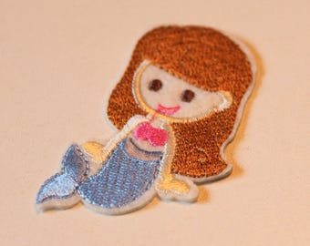 1 X embroidered patch - Princess Ariel Little Mermaid - stick or sew - child