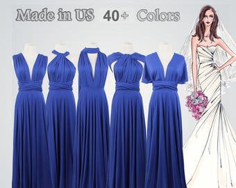 Womens Wrap Dress,Royal Blue Wrap Dress,Long Wrap Dress,Infinity Wrap Dress,Convertible Prom Wrap dress,Bridesmaids Dress,wrap Dresses