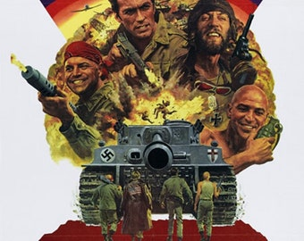 Kelly's heroes 1970 Clint Eastwood movie poster reprint 19x12.5 inches