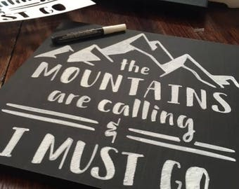 The Mountains are calling Chalkboard