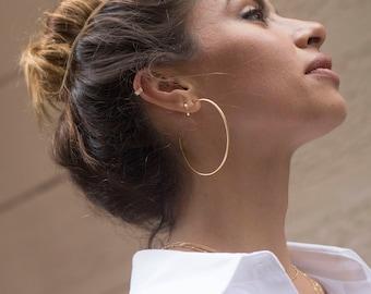 Hoop earrings - Gold hoop earrings - Silver hoop earrings - Minimal hoop earrings - Dainty hoop earrings - Minimal hoops - tiny hoops