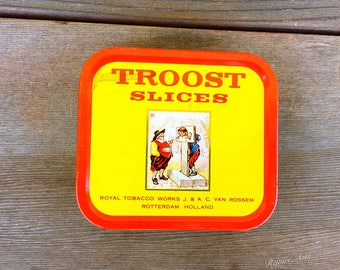 Vintage Troost Slices Tin Royal Tobacco Works Holland
