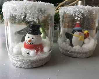 Snowy Christmas Baubles