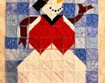 """Frosty the Snowman: Handmade Quilt (45""""x61"""")"""