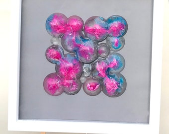 resin bubble art