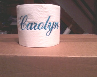 Embroidered Personalized Toilet Paper with Name or Monogram