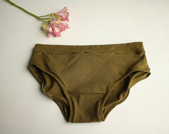 new // HEMP BASIC BRIEF / hemp jersey panties / eco friendly underwear / made to order / by replicca / size s to xl