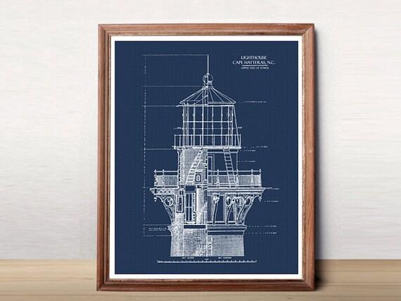 Lighthouse blueprint blueprint art download nautical decor lighthouse blueprint blueprint art download nautical decor blueprints printable art blue print lighthouse decor 8x10 11x14 16x20 malvernweather Images