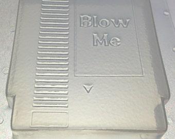 "Flexible Soap or Chocolate Mold Retro 8 Bit NES Game Cartridge 3"" x 1/2"" Deep"