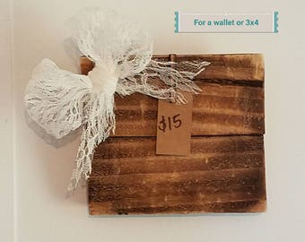 Wooden Picture Board for a 3x4 or wallet picture