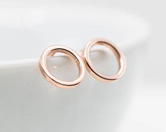 Small Circle Studs Rose gold