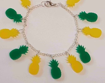 Multiple Pineapple Fruity Bracelet - Acrylic