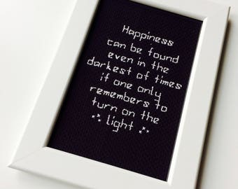 Albus Dumbledore | Harry Potter | Wizard | Happiness | Uplifting | Cute | Gift | Home | Framed | Cross Stitch |