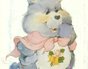 Butterick 6933 GRAMS BEAR Care Bear Pattern Vintage 1980s also Issued as Butterick 342
