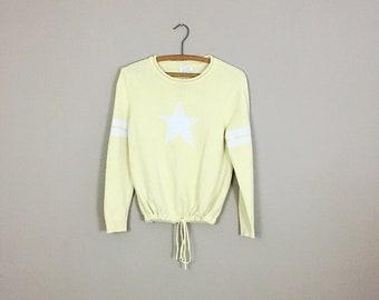 80's Star Drawstring Sweater