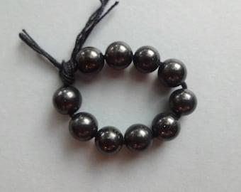 10 Shungite beads 8-10-12 mm black beads gemstone beads rare stones Jewelry supplies beads loose beads round beads protection beads