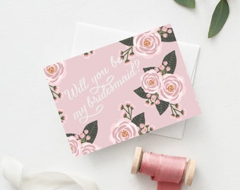 Bridesmaid Card set of 4, Will You Be My Bridesmaid, Will You Be My Bridesmaid Cards, Bridesmaid Invitation, Will You Be My Bridesmaid Ideas