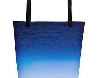 Monaco Mediterranean Sea Fog Beach Bag 1:100 Limited Edition  / blue / modern / classic / ocean / gradient /. graphic ..