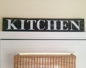 Rustic Kitchen, handpainted pallet wood sign, country, farmhouse sign,