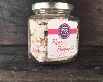 Rose & Bergamot Bath Salts