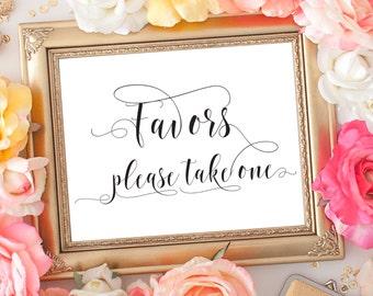 SALE 70% Favors wedding printable sign. Wedding, bridal shower digital favors sign, digital signage. Wedding, bridal, baby shower favors