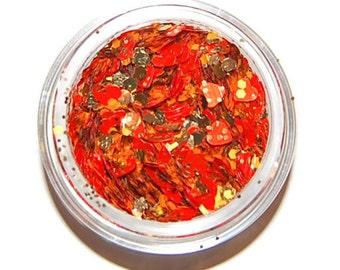Tangerine Glitter Mix, Solvent Resistant, Glitter Mix, Tangerine, Raw Glitter Mix, Nail Polish, Nail Art, Slime glitter, Nail Glitter, Gold