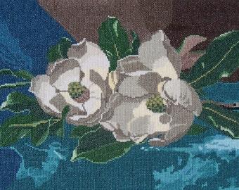Magnolia's on Blue Velvet by Heade
