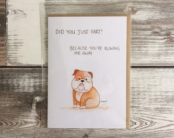 Did You Just Fart Greetings Card